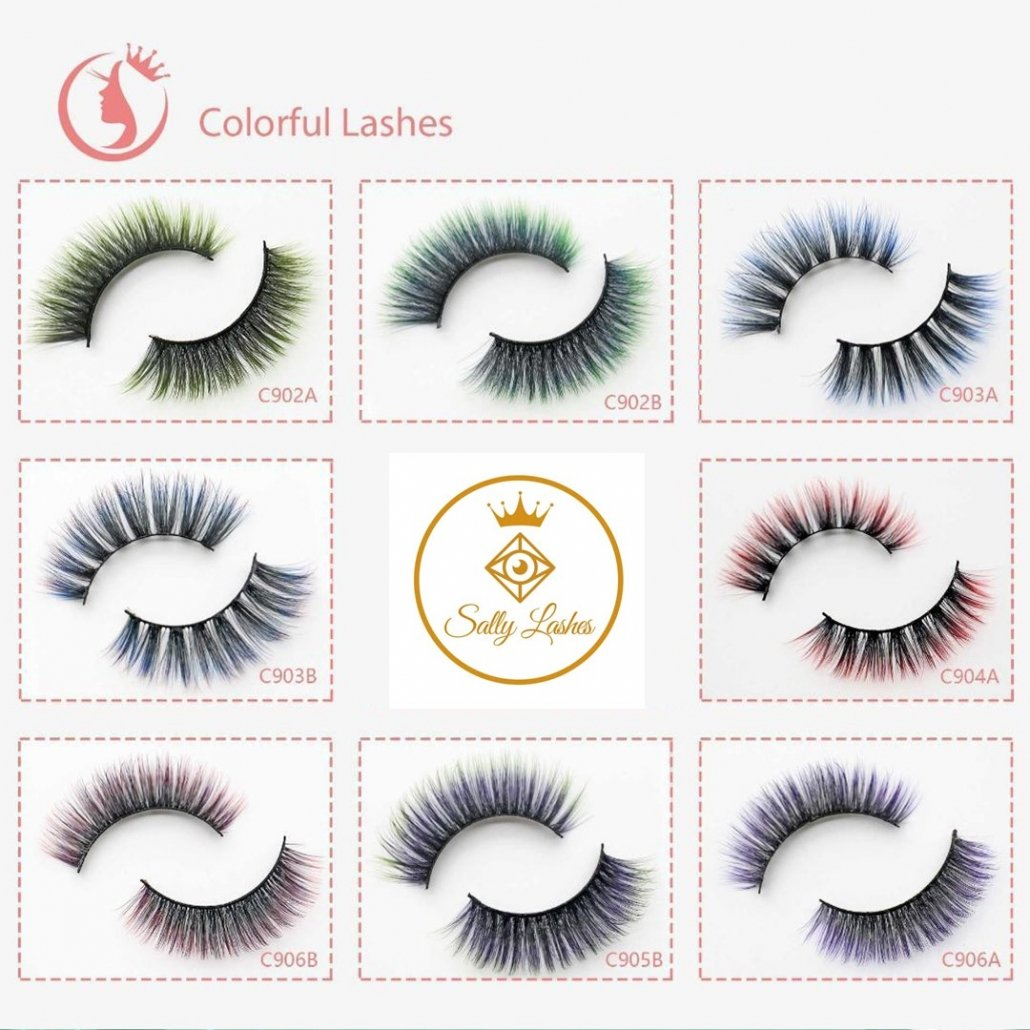 color lashes wholesale eyelashes