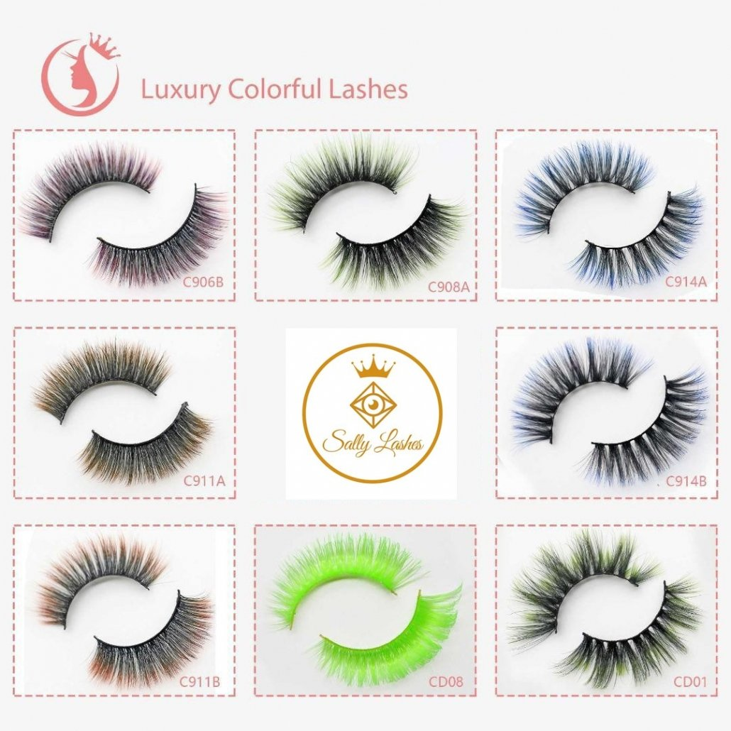 wholesale eyelashes color lashes